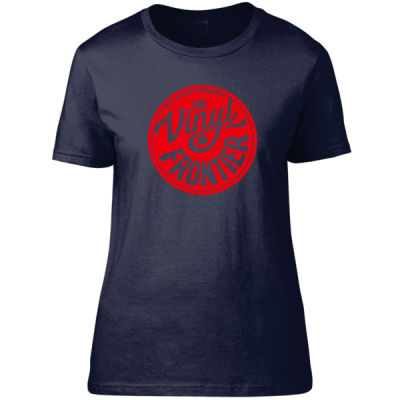 The Vinyl Frontier -  Red Logo - Women's Fitted T-Shirt Thumbnail